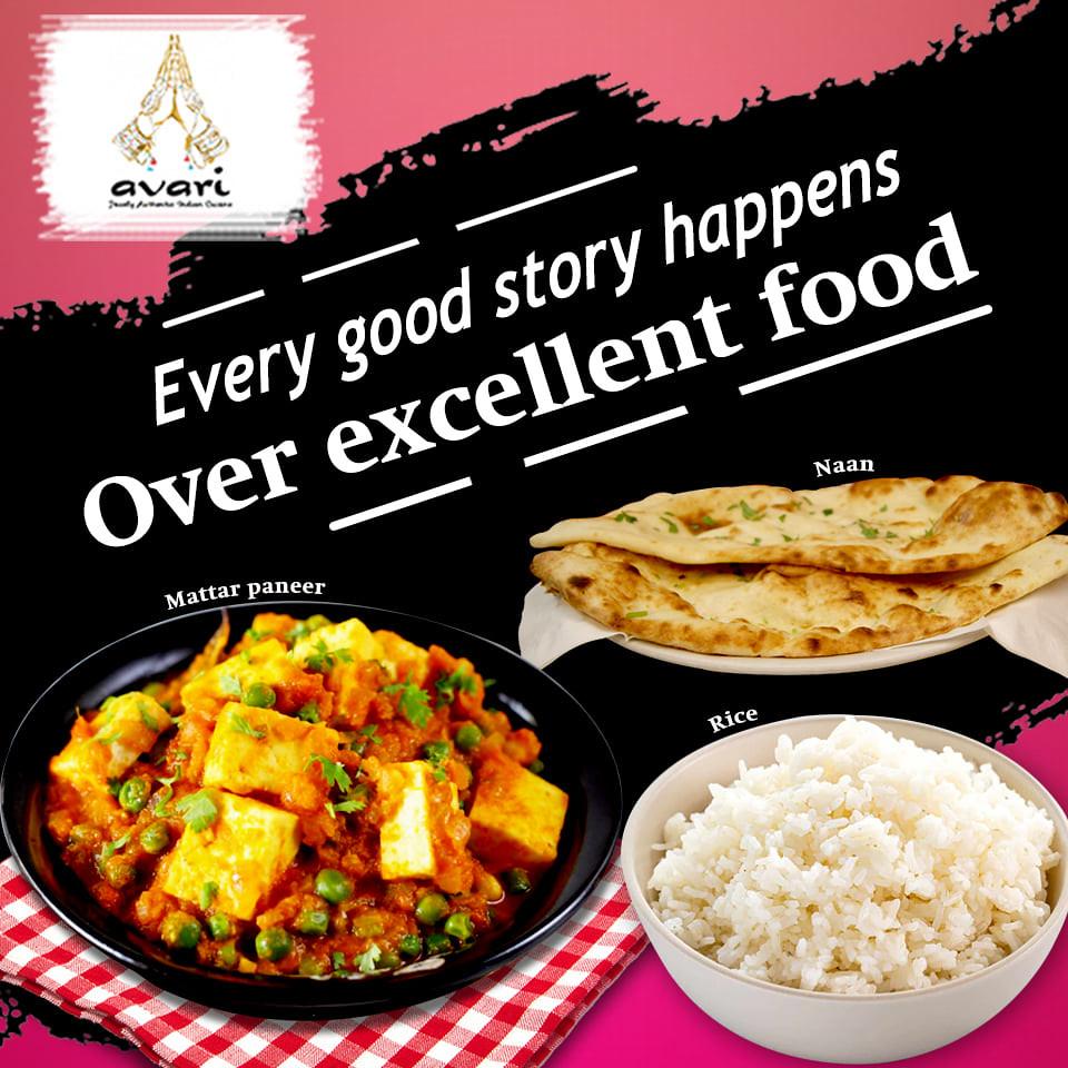 excellent food avari indian