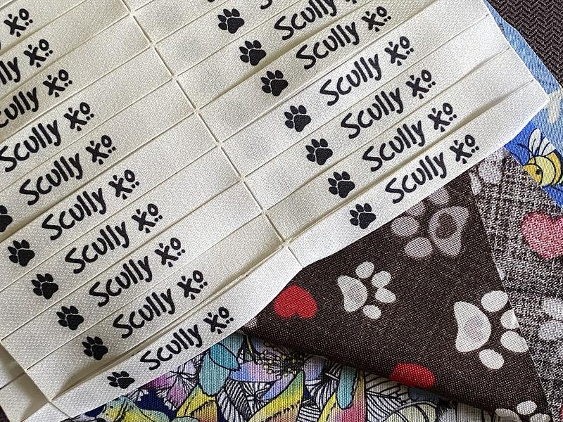 Labels for dog bandanas