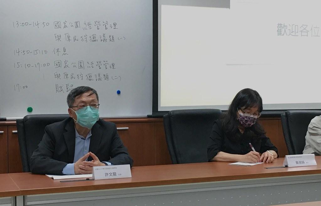 許文龍(圖左),鄭雅云攝。IMG_4602