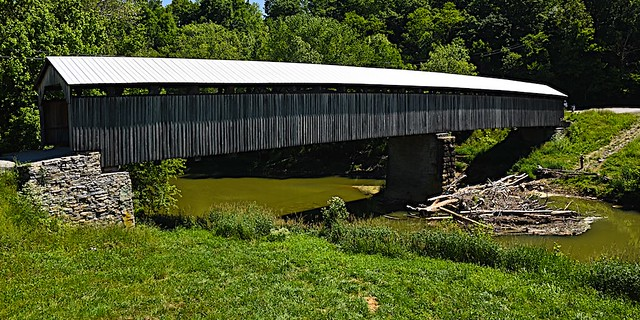 Mt Zion Covered Bridge Destroyed by Fire