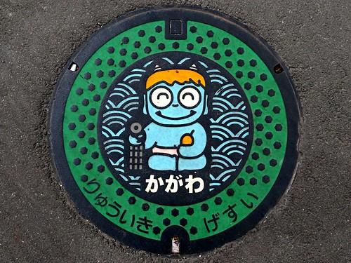 Kagawa prefecture, manhole cover 3 (香川県のマンホール3)