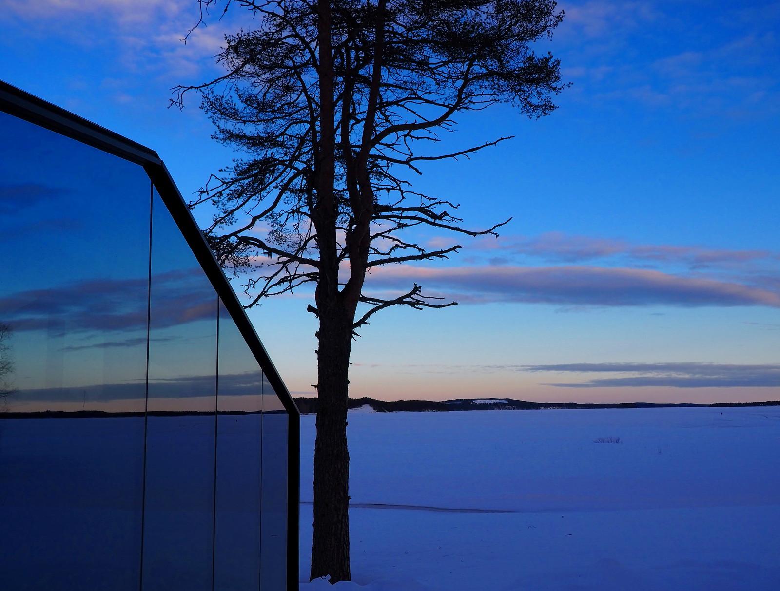 Vuokatin Lasi-iglut talvimaisema www.elamaajamatkoja.fi