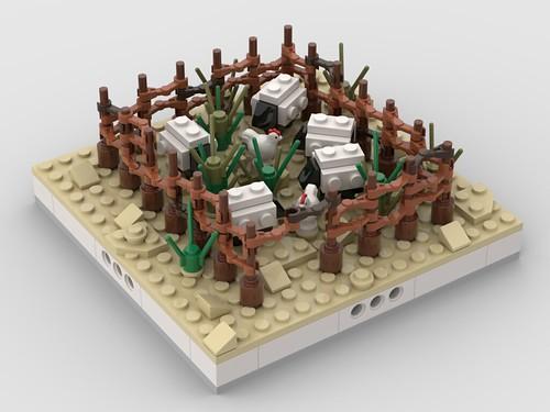 Lego Herd of sheep for a Modular Desert village