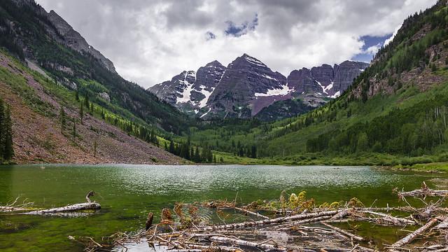 Maroon Bells and Lake