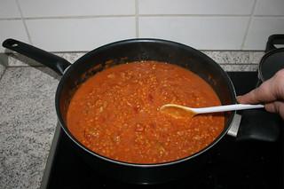 34 - Stir in turkey & let get hot / Pute verrühren & heiß werden lassen