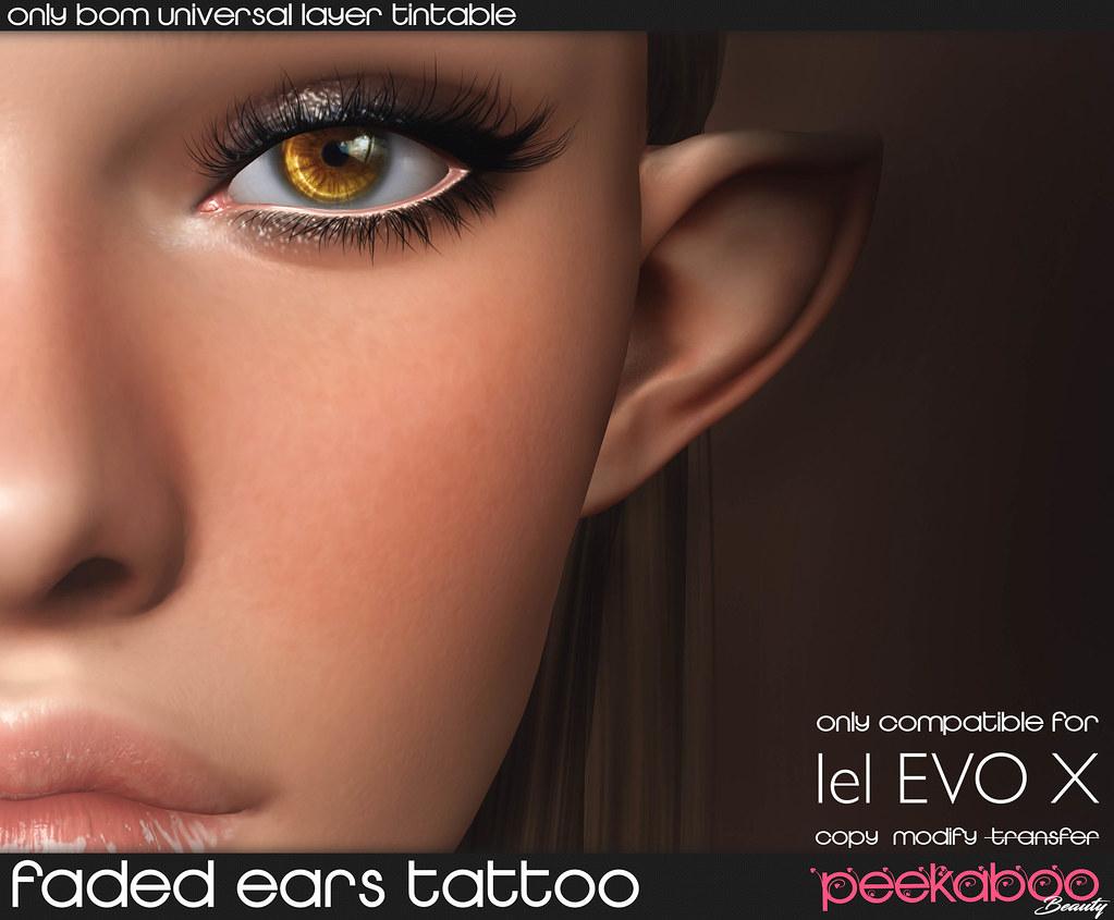 EvoX Faded Ears Tattoo AD