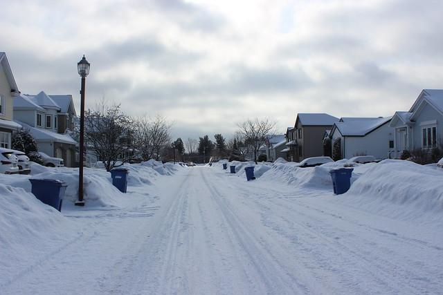 Quebec Street in winter