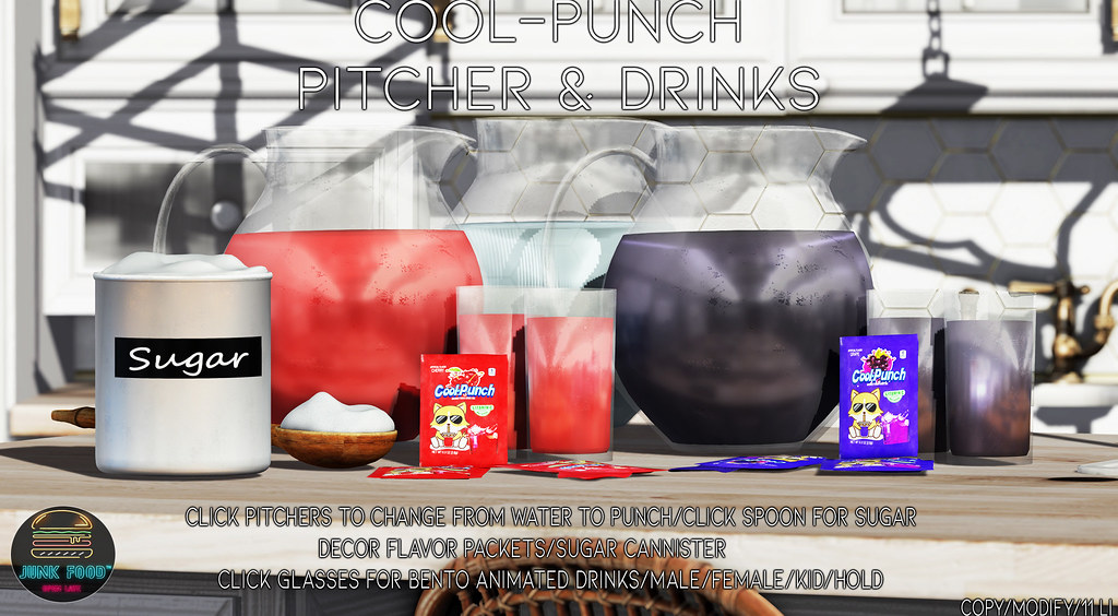 Junk Food – Cool Punch Pitchers & Drinks Ad
