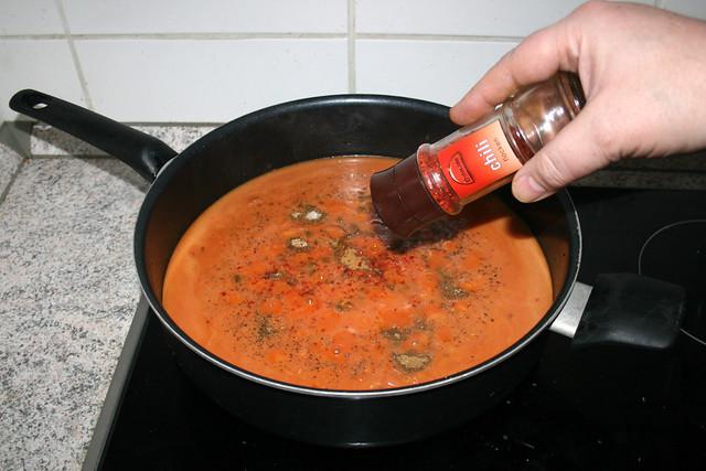 29 - Spice with chili flaked / Mit Chiliflocken schärfen