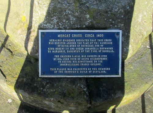 Inverkeithing Mercat Cross Plaque