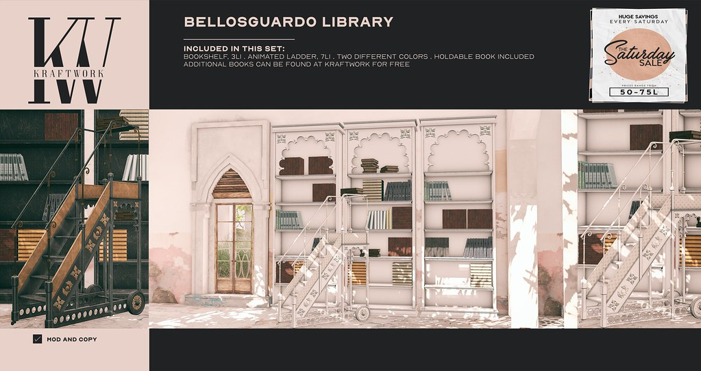 KraftWork Bellosguardo Library for The Saturday Sale