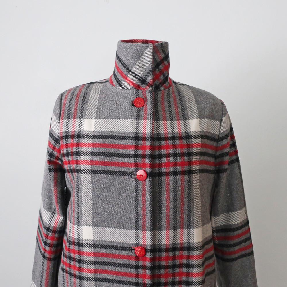 Plaid coat front 7