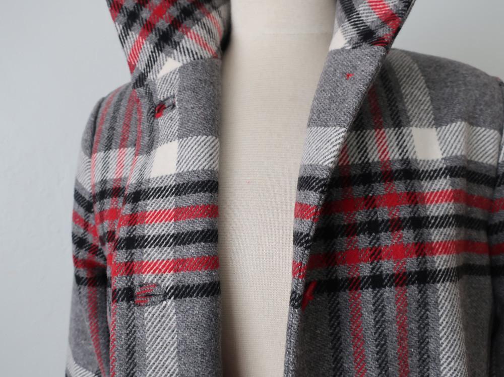 Plaid coat front 6