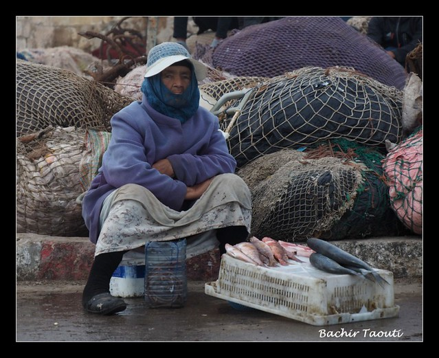The lady fish seller -a