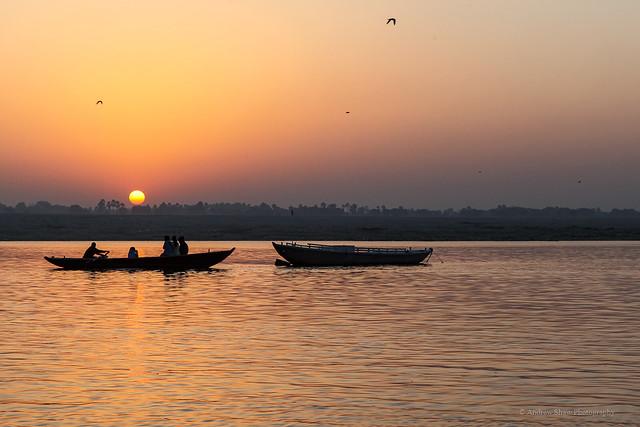 Sunrise on the Ganges, Varanasi - 2
