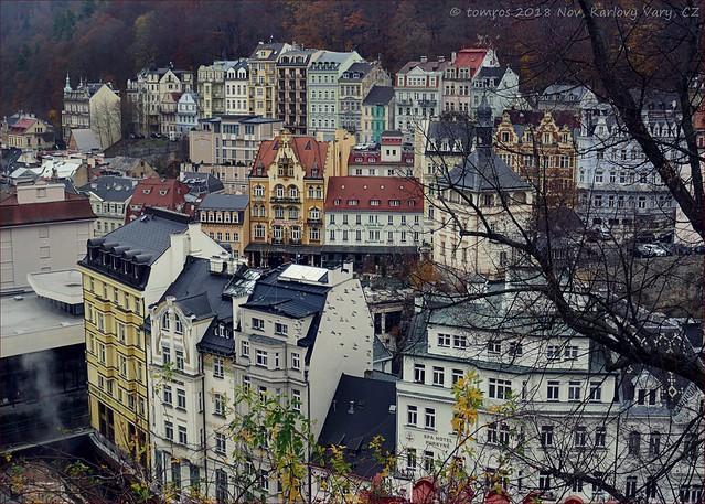 View on Karlsbad. Czech Republic.