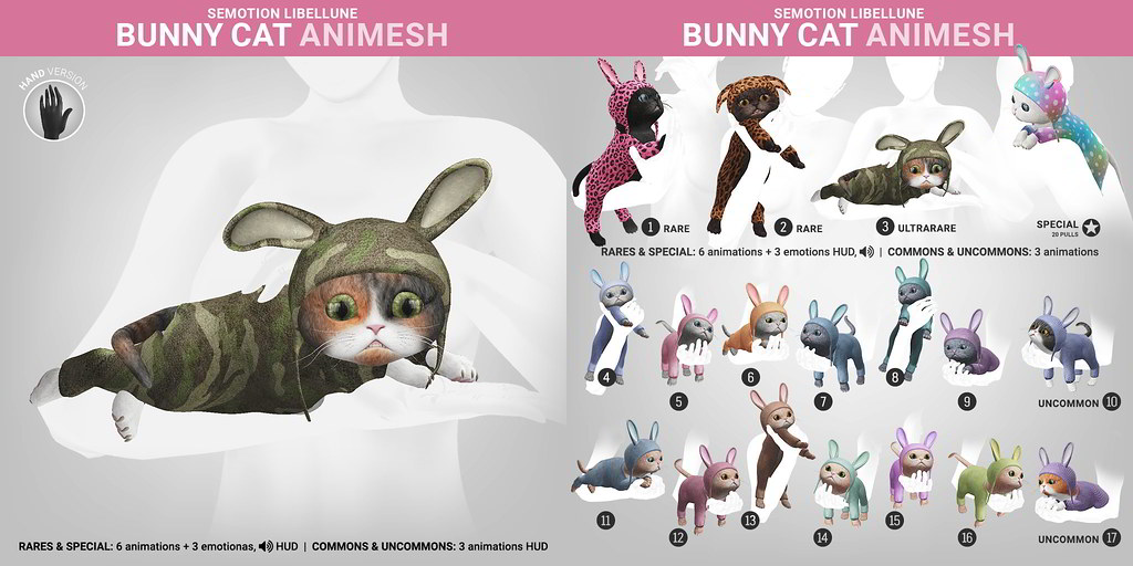 SEmotion Libellune Bunny Cat Animesh
