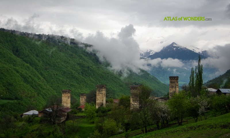 Towers in a Svaneti town