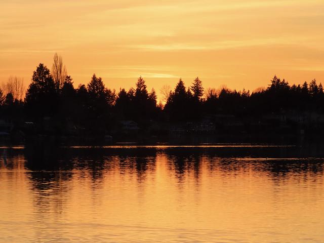 Sunset over Lake Meridian tonight