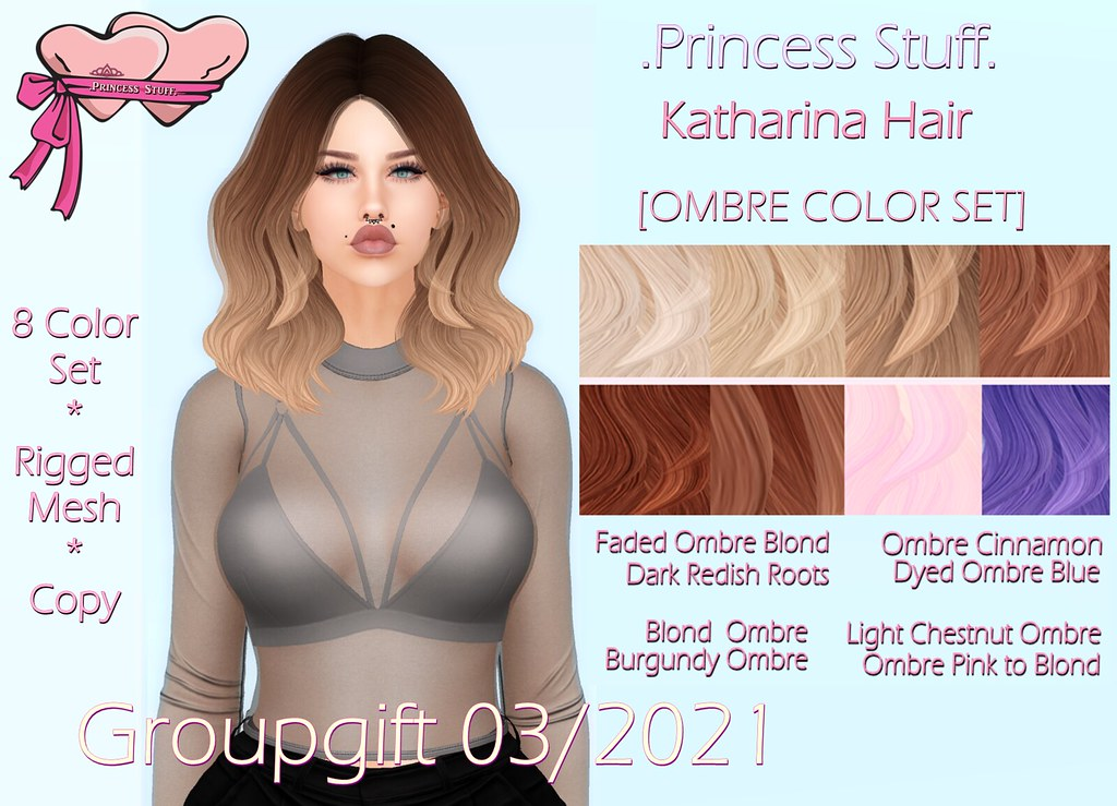 .PrincessStuff. Katharina Hair [Groupgift 03/2021]!