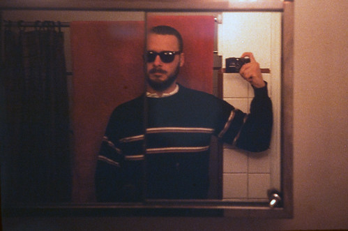 Myself Reflected In A Bathroom Mirror
