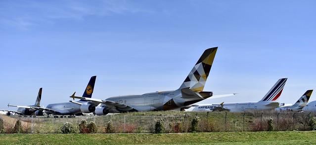 Ossun (Aéroport de Tarbes-Lourdes Pyrénées) - Airbus A380 - 10/03/21