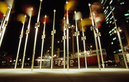 Chesapeake Lightship with Flagpoles