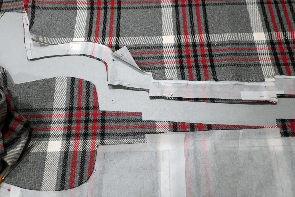 matching side seams Patr coat