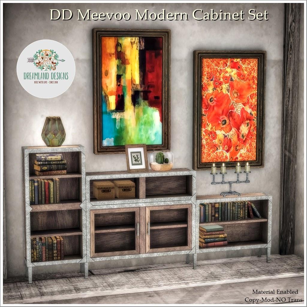 DD Meevoo Modern Cabinet Set AD