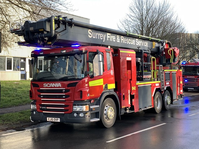 West Sussex and Surrey Fire & Rescue's in attendance at a make pumps 16 aerials 2 fire at the Ibis hotel in Crawley.