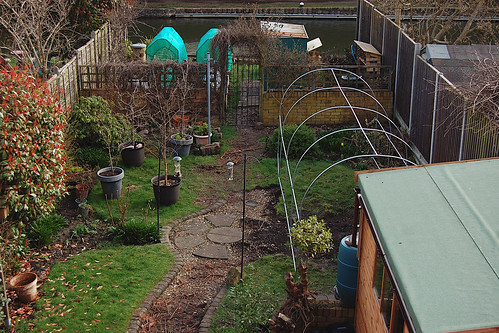 Looking Down on the Back Garden - March 2021