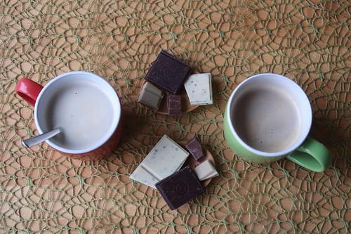 Je vier stückchen Schokolade von GEPA zum Nachmittagskaffee