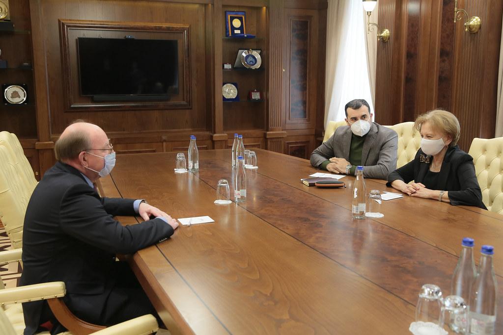13.03.2021 Întrevederea Președintelui Parlamentului Zinaida Greceanîi  cu Ambasadorul Federației Ruse Oleg Vasnețov