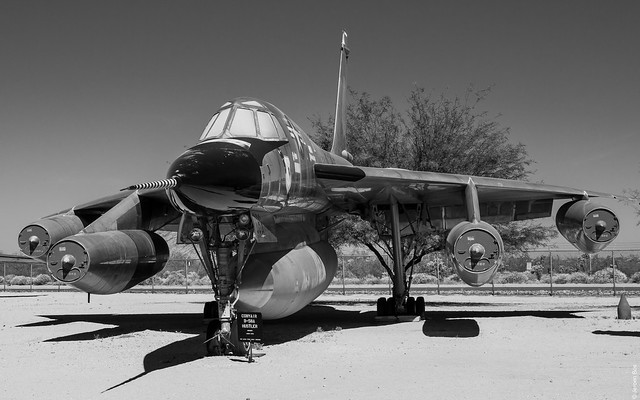 Convair B-58A Hustler in 305th Bombardment Wing, Grissom AFB, Indiana, 1969 markings, Pima Air & Space Museum