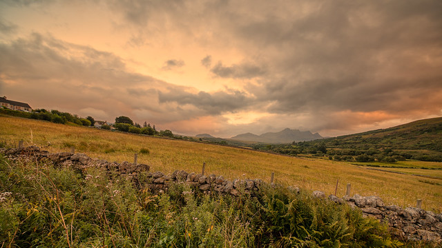 Evening skies near Tongue, Scotland.