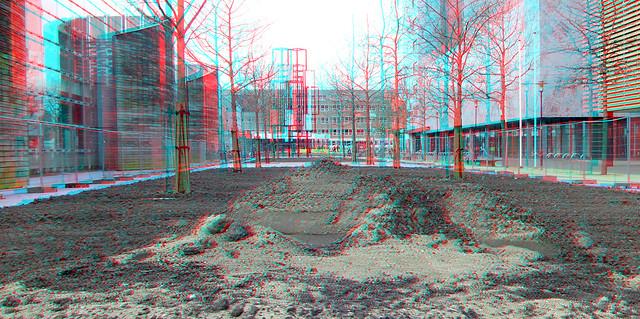 Nieuwe groenvoorziening Prins Alexanderplein 2021 Rotterdam 3D