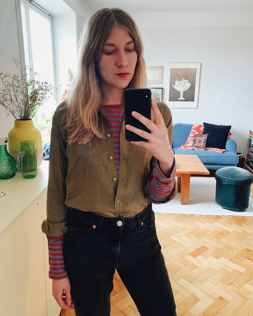 randig + skjorta
