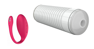 The We-Vibe Jive (left) and Lovense Max (right) analysed in the study.