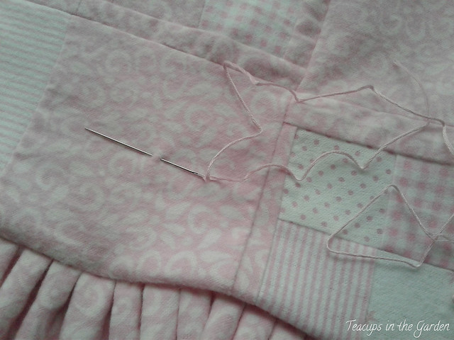 Pink and White Flannel and Minky Baby Quilt- 1