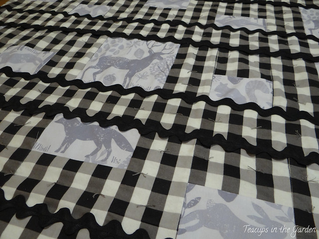 Black and Grey Baby Quilt flannel and minky-3