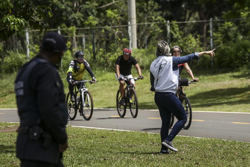 Fiscalização do uso de máscara no Parque da Cidade (13.03.2021)