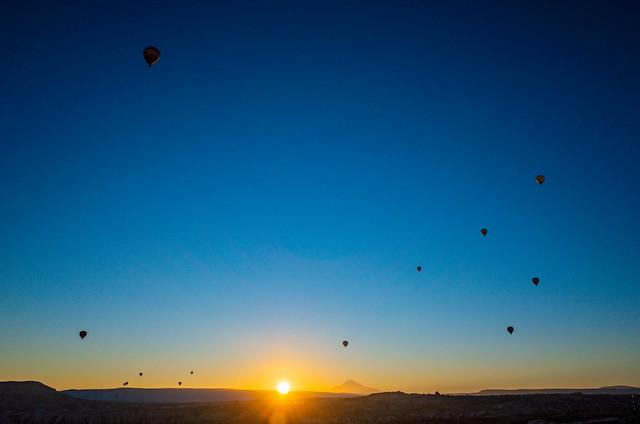 Balloons all around