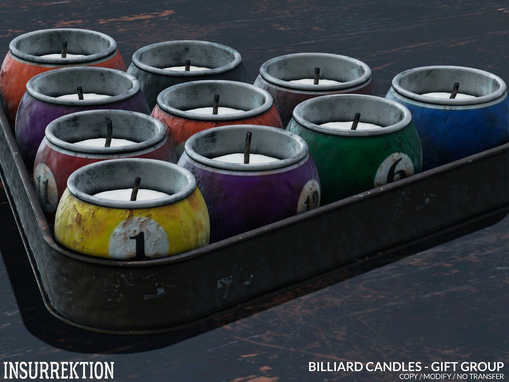 [IK] Billiard Candles – GIFT GROUP – 4K