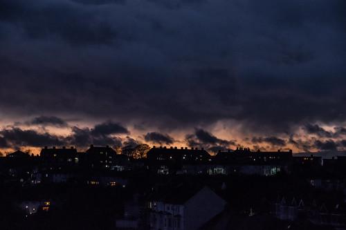 smileonsaturday clouds skyline halton aftersunset houses dark sky acrossclivevale acrossthevalley
