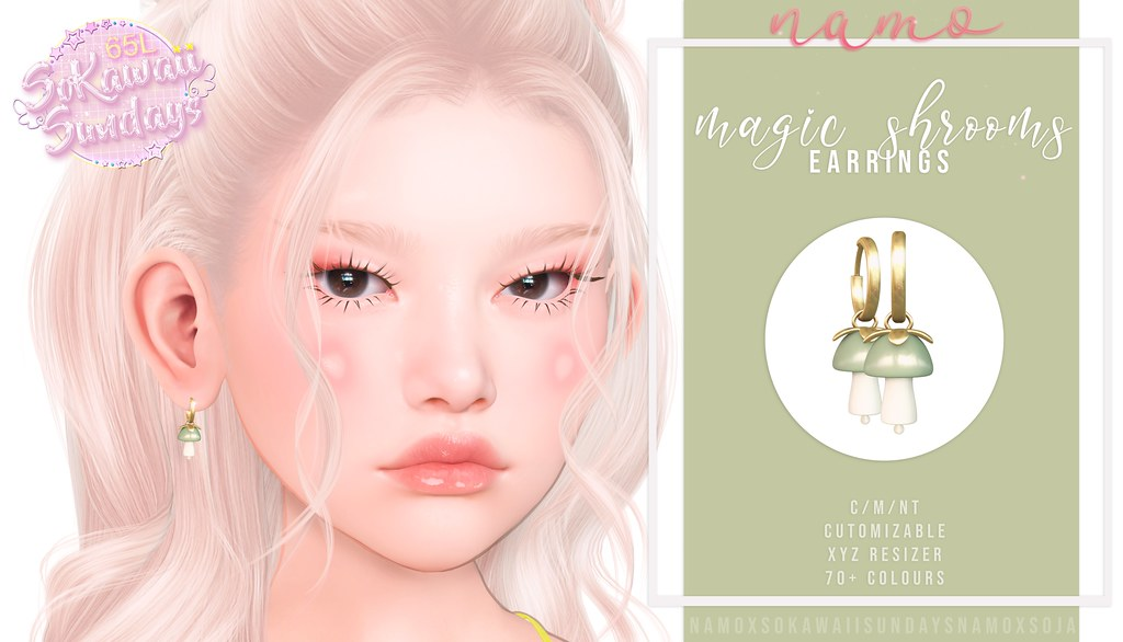 namo. magic shrooms earrings @SoKawaiiSundays