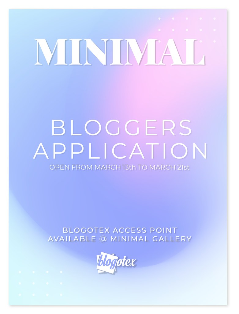 MINIMAL Bloggers Application is NOW OPEN