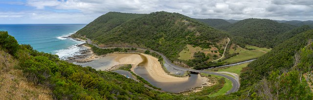 Mouth of Saint George River. from Teddys Lookout. Great Ocean Road, Lorne