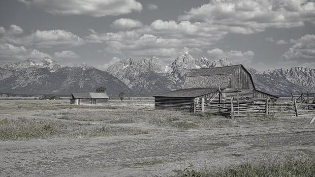 Mormón road barns. Jackson Hole, WY