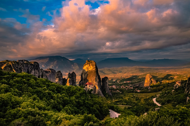 Meteora at sunrise