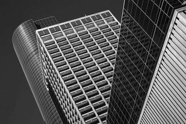 Wells Fargo and Kinder Morgan buildings, Houston (infrared)